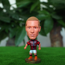 Kodoto Classic 6.5 cm Height Resin Football Star Doll Serie A Milan Team 9 Fernando Torres Figure Red Black Kit