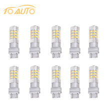 10 PCS 3157 Switchback Bulbs Turn Signal Light - 3056 3156 3057 LED Car bulbs - 42SMD Dual Color Amber / White