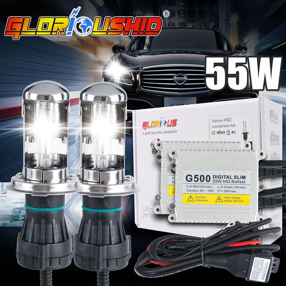 1 set h4 xenon lamp G500 hid conversion kit xenon Light 9007 H13 bi xenon 4300k 5000k 6000k 8000k 10000k h4 hi low xenon Ballast<br>