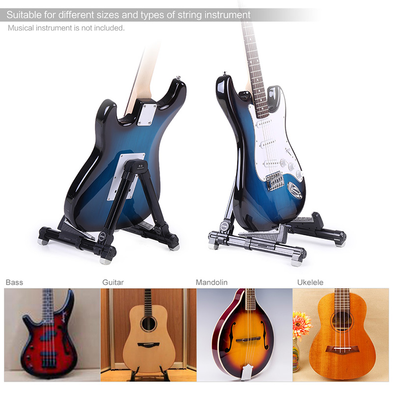 AROMA-AGS-08-Folding-Adjustable-Guitar-Stand-Aluminum-Alloy-A-Frame-Stand-Universal-for-Banjo-Guitar (5)