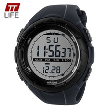 TTLIFE Watch Men Sport LED Luminous Digital Military Wristwatches 50M Waterproof Swimming Sports Watch For Men relogio digital