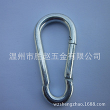 [spot supply] electro galvanized mountaineering buckle safety climbing swing hook safety buckle hardware