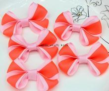 "150pcs of 2.5"" Grosgrain Bows orange and pink 2 tones Deco DIY Decoration, Gift making Deco DIY Decoration display(China)"