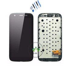 For Motorola Moto G XT1032 XT1033 LCD Display Screen With Touch Digitizer bezel Frame Assembly black +tools
