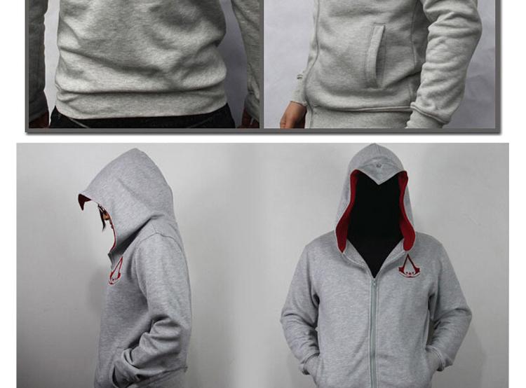 Fashion Men Assassins Creed Hooded Sweatshirt Hombre Autumn Winter Solid Hoodie Sweatshirts Men Cosplay Chadal Cool Clothing 3XL 6