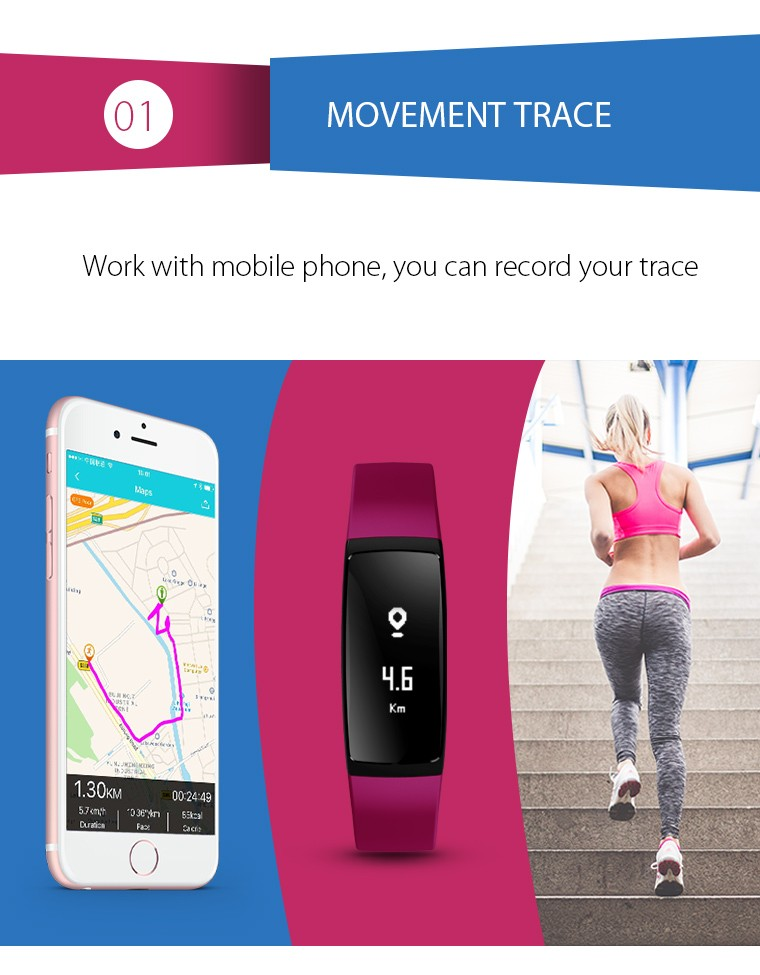 V07 Smart Wristband Band Heart Rate Monitor Blood Pressure Bracelets pedomet Bracelet Fitness Tracker SmartBand For iOS Android 5