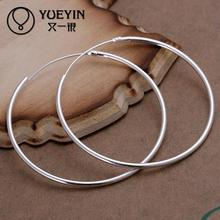 Fashion classic simple silver hoop earrings for women jewelry circle best earring