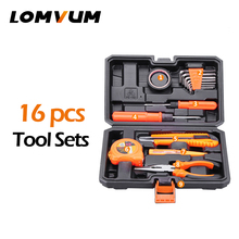 Buy LOMVUM 16Pcs Tools Hand Tools Household Multifunction Hardware Tool Disassembling Repair Kit Box PortableHand Tool Sets for $32.77 in AliExpress store
