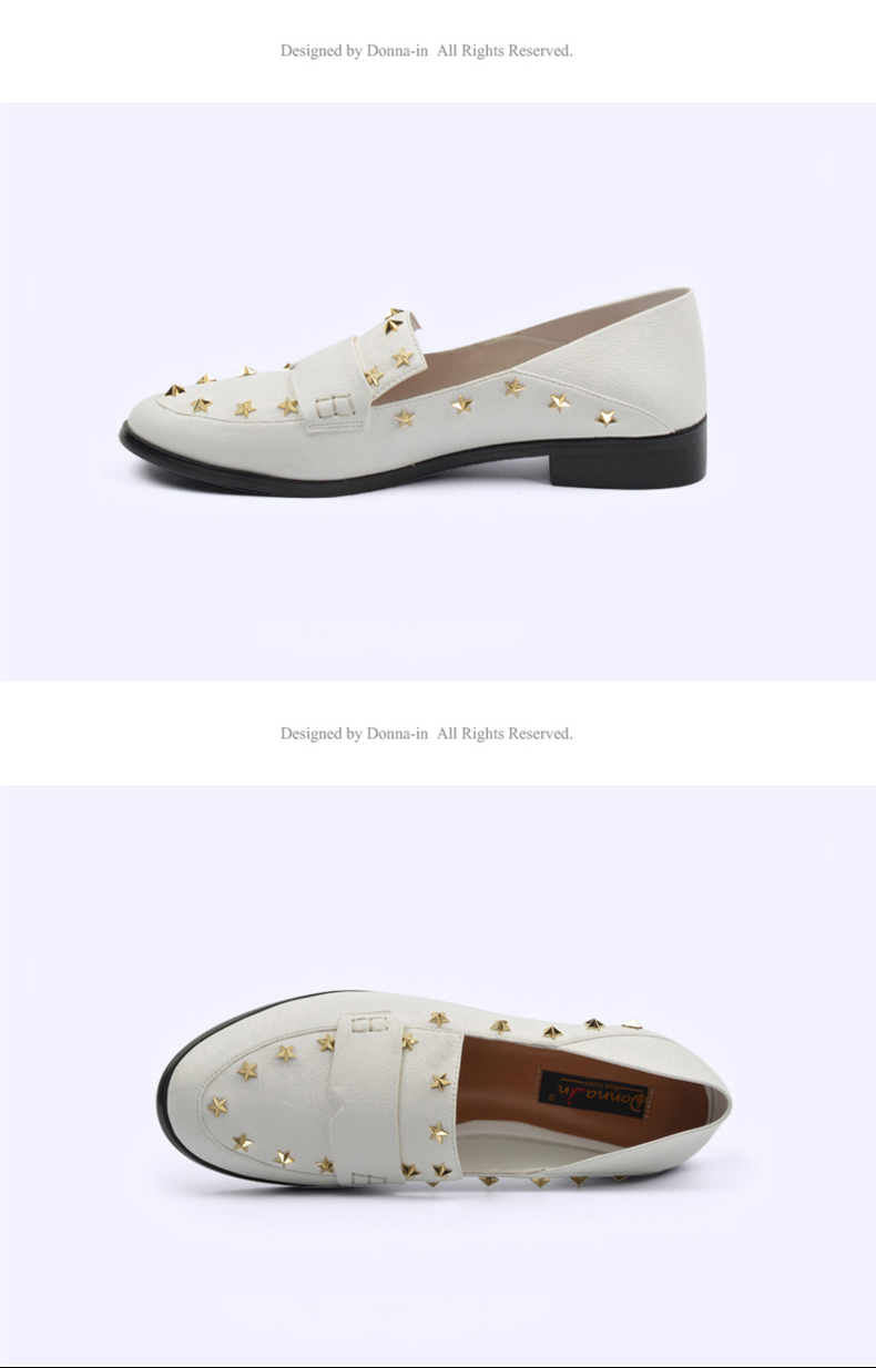 Donna-in Brand Flats Shoes Women Genuine Leather Loafers Slip on Mules low Heels Round Toe Casual Pentagram Ladies Shoes Autumn (1)