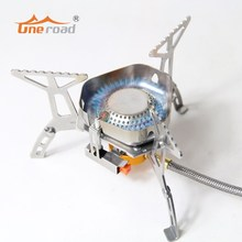 UNE ROAD New Camping Windproof stove High quality Portable Folding Gas Stove Outdoor Survival Picnic BBQ burner Stoves(China)