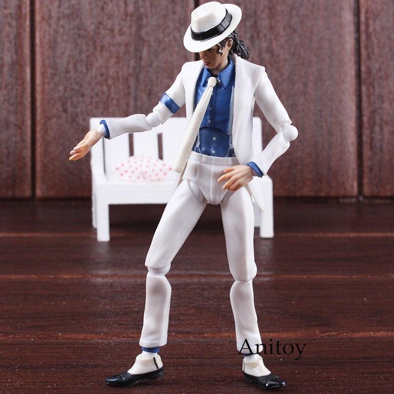 Michael Jackson Toy Doll Moonwalk Beat It PVC Action Figure Collectable Decor