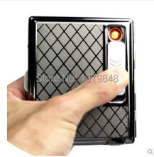 16 cigarettes box USB Cigarette case with cigar lighter packing : gift box(China)