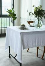 Flax white tablecloth  free shiipping