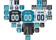 Custom south carolina cam newton panthers stitched jersey christian mccaffery black Vapor Untouchable color rush american jersey(China)