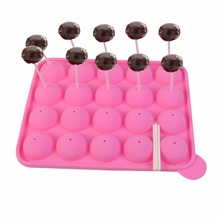 20 Cup Tasty Cake PopSilicone Mold Tray Easy Instant Baking Flex Pan  KC33456*FDS