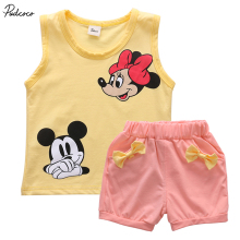 New year Minnie mouse baby kids clothes girls set 2pcs  T-shirt Tops+Pants/Dress girls children clothing sets Outfits hot sale