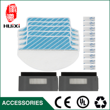 High Quality 5pcs Cleaning Mop Cloths + 2 sets Hepa Filter for DT85 DT83 DM81 Robotic Vacuum Cleaner to Cleaning Dust