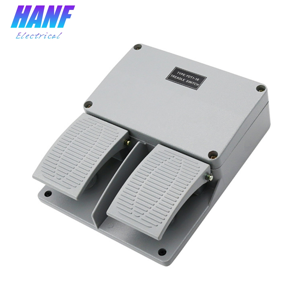 1pcs Foot Switch 1NO1NC Momentary Metal Foot Pedal Switch Ganged Switch Aluminium Alloy Waterproof Two Wire Switch High Quality<br>
