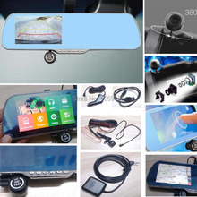 5 inch 1080P touch screen mirror car rear view camera rearview mirror GPS navigation FHD DVR with WIFI G-Sensor