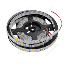 600leds DC 12V smd 5050 Double Row led strip RGB 120leds 1m/2m/3m/4m/5m white 120 leds/m flexible rope light ribbon tape DC12V