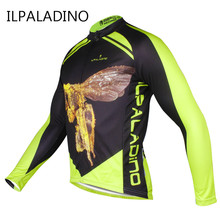 Yellow Men's Cycling Jerseys Long Sleeve Man Bicycle Biking Race Clothing Top Polyester Reflective Anti-UV Highly-flexible 2017