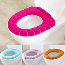Pumpkin Knitting Toilet pad Toilet Seat Cover Coral fleece Warmer Overcoat Anti static Toilet Mat
