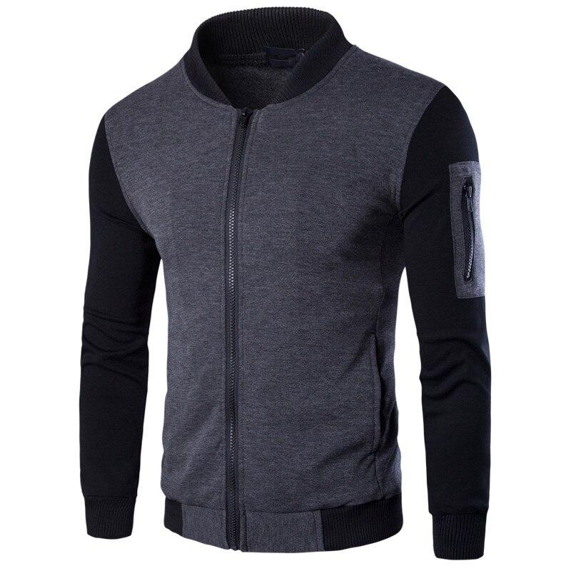 2017 New Designer Man Casual Slim Fit  Bomber Jacket Size M-3XL College Autumn Spring Fashion Men Wind Hoodies Coats