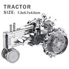 New creative Tractor 3D puzzles 3D metal mini model Creative DIY Jigsaws Adult/Children gift toys Perfect details And many(China)