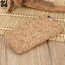 Original New Cork Wood Case for iPhone 6 6S 7 PLUS Blank Wooden Cover for Apple Accessories Protector Coque Back Housing Factory