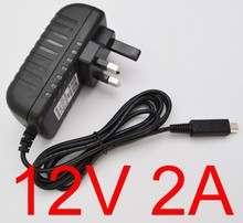 1pcs New AC Converter Adapter DC 12V 2A 2000mA 24W Power Supply UK Plug Battery Charger For Acer Iconia A510 A700 A701 tablet pc