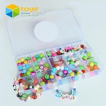 DIY Magic Puzzle Fimo Beads Jewelry Box Princess Vanity Case Design Suite Learning Educational Toys for Girls Kids Creative Gift(China)