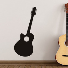 Wall Stickers Home Decor Guitar Black Silhouette Hollow Out Wall Sticker Kids Home Decoration Butterflies On The Wall Decals