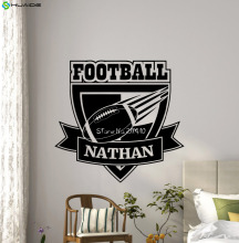 Personalized American Football Wall Vinyl Decal Gym Sport Custom Name Logo Boy Sticker Poster Home Teen Kids Nursery Mural A490