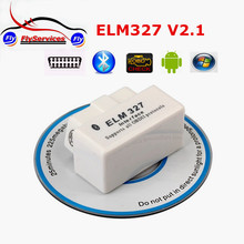 New Arrival White ELM327 Mini Bluetooth OBD2 V2.1 Support All OBD2 Protocols Car Scan Tool Elm 327 For Android Phone Tablet(China)