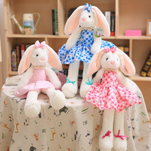 1pcs 40cm Cute Ballet Rabbit With Floral Skirt Soft Plush Dolls Stuff Toy Appease Baby Sleeping Dolls For Baby
