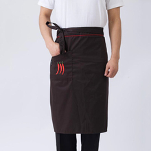 Restaurant Hotel Bar Chef Half Body Cooking Apron Men Women Kitchen Short Apron Waiter Waitress Waist Aprons