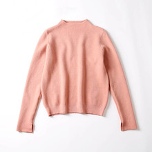 Autumn Winter New Women Turtleneck Sweaters Female Knit Long Sleeve Candy Color Split Pullover Sweater Femme Tricot Pull Sweater(China)