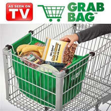 2017 New High Quality Reusable Folding Shopping Cart Trolley Grocery Bag Clip To Cart Tote Grab Bag Shopping Cart Bag(China)