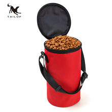 TAILUP New Collapsible Dog Travel Bowl High Quality Pet Hamster Dry Food Container Waterproof Bag(China)