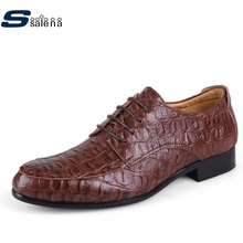 Super Large Size Eu 50 Men Shoes Fashion Crocodile Business Shoes New Men Flats Leather Shoes Male #D092(China)
