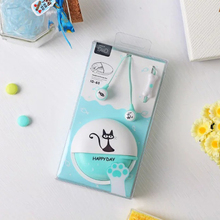Cute cartoon earphone mini earbuds in ear noise isolating earphones with mic fone de ouvido for iphone samsung xiaomi