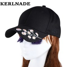 new fashion women beauty baseball cap hat embroidery floral snapback white pink black solid casual casquette girl gorras hats