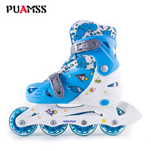 Brand Glowing Children Skate Shoes Kids Roller Skates Shoes Athletic Boys And Girls Roller Shoes Luminous Sneakes