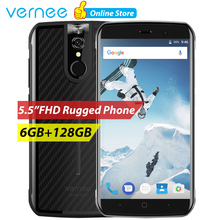 vernee Active Mobile Phone Rugged Smartphone IP68 Waterproof Android 7.0 Phone 6GB 128G 5.5 Inch Helio P25 Octa Core Cell phones(China)