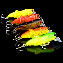 Fishing Insect Bait Simulation Locust Minnow Lure Artificial Float Grasshopper Catch Carp
