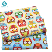 50cm*160cm/piece Cute Colorful Owl Printed 100% Cotton Fabric for Baby Bedding Textile Patchwork Quilt Sewing Fabric Material