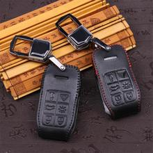 leather Key case suitable for volvo xc60 s60 v60 v40 s80 leather key cases  5 button key