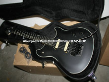 Free Hardcase Newest Black Electric Guitar Ebony Fingerboard Free Shipping(China)