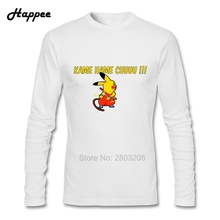 Kame Hame Chu Pokemon T-shirts Men Autumn 100% Cotton Tee Adult Clothes Tops Printed Long Sleeve T Shirts For Male(China)