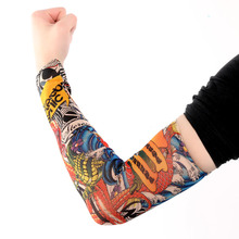 6PCS New Fashion Popular Women Men Cool Unique Lot 6 Pcs Party Travel Temporary Fake Slip On Tattoo Soft Arm Sleeves Kit Hot(China)